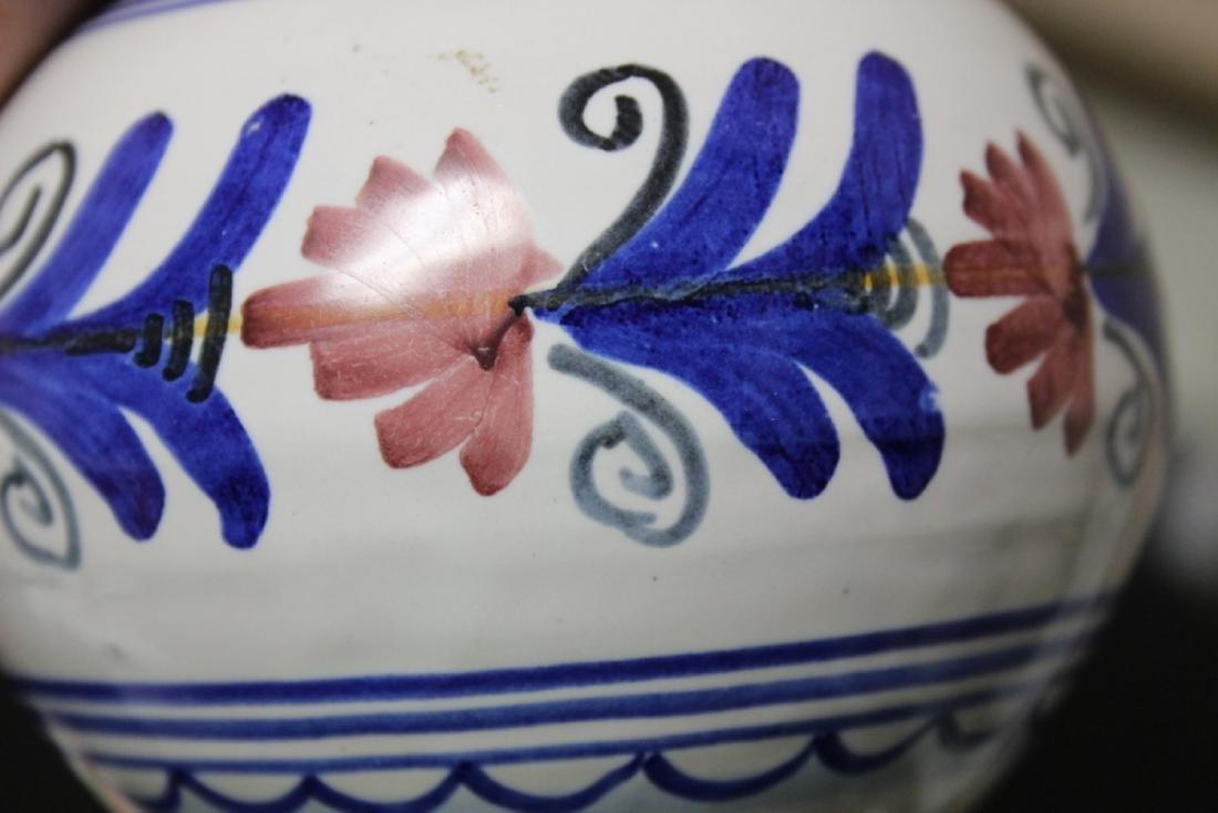 A Hand Made Ceramic Spain Ewer - 4