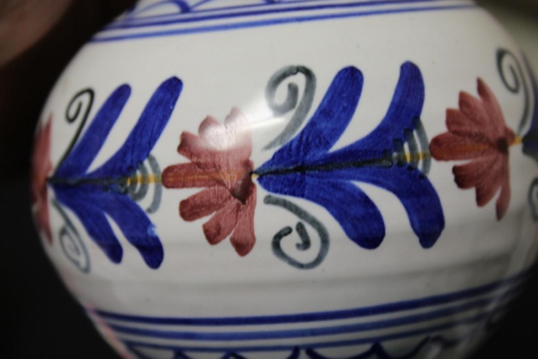 A Hand Made Ceramic Spain Ewer - 5