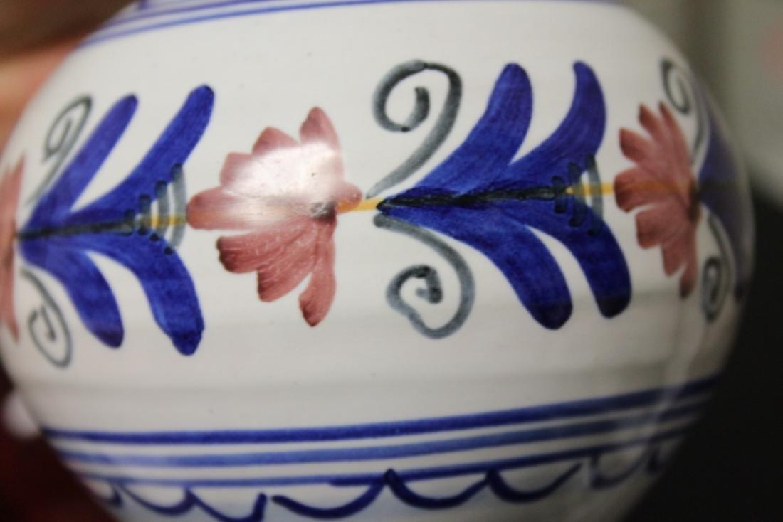 A Hand Made Ceramic Spain Ewer - 6