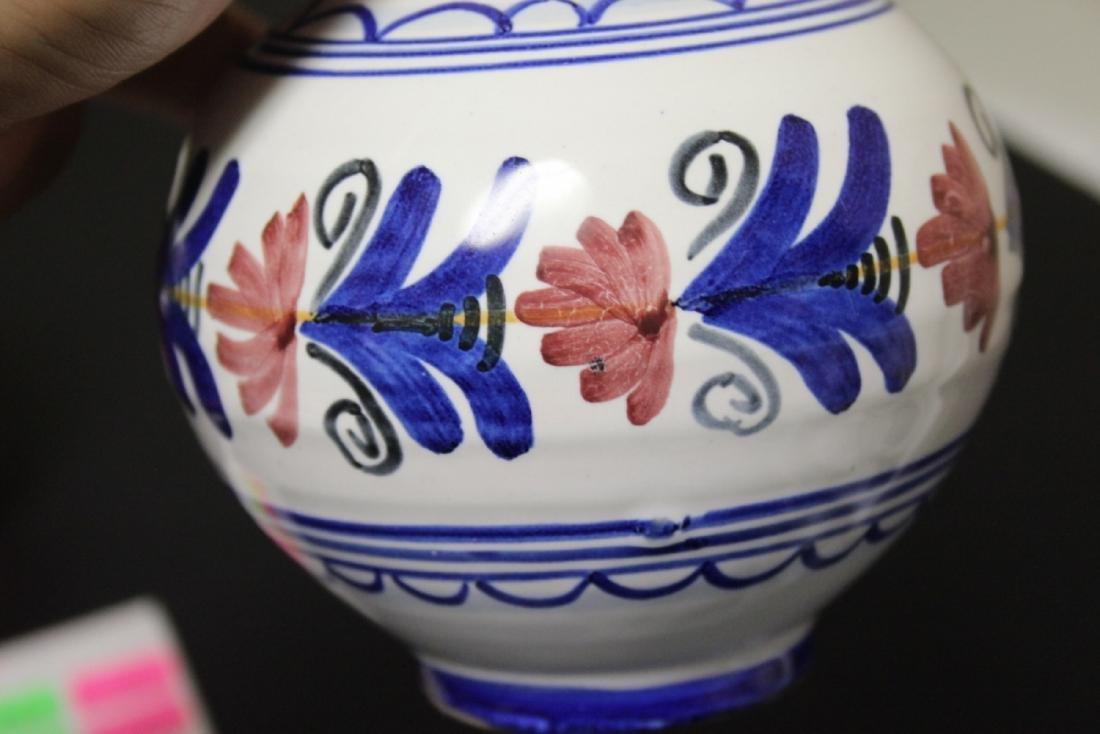 A Hand Made Ceramic Spain Ewer - 7