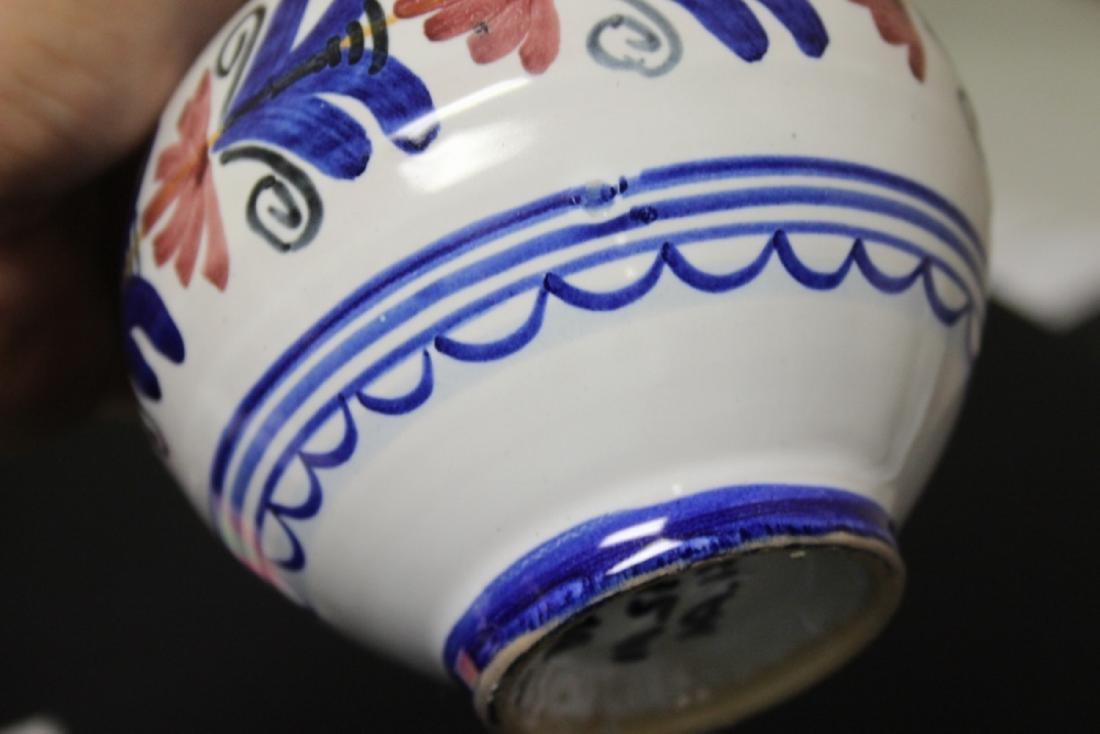 A Hand Made Ceramic Spain Ewer - 8