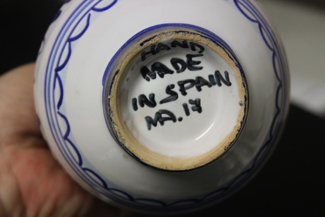 A Hand Made Ceramic Spain Ewer - 9