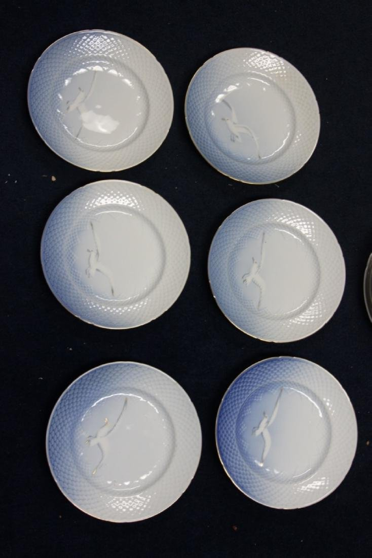 Set of 6 Denmark B&G (Bing and Grondahl) Lunch Plates