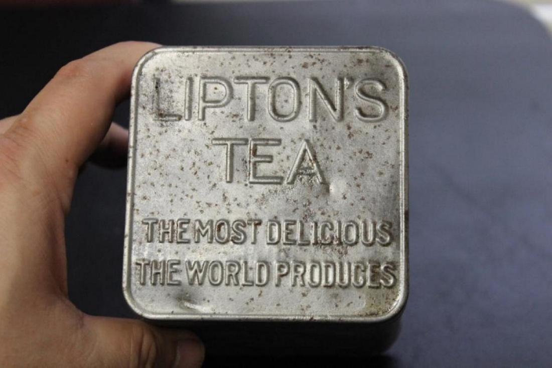 Vintage Lipton's Tea Tin Can Planter - Ceylon