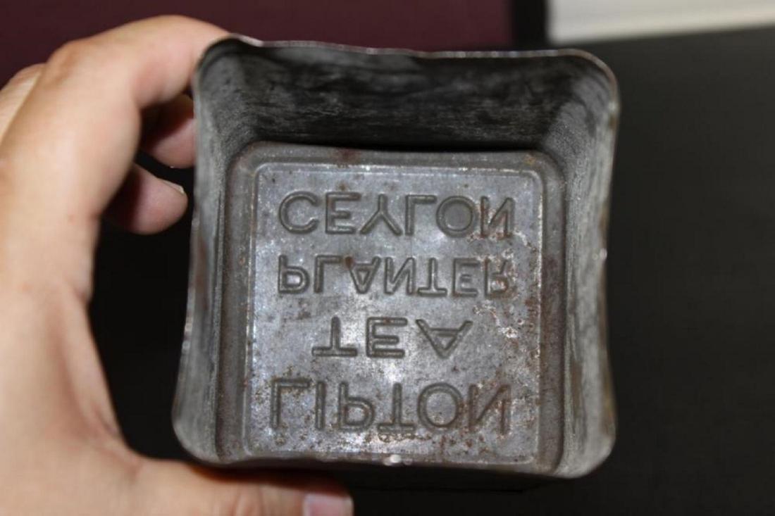 Vintage Lipton's Tea Tin Can Planter - Ceylon - 5