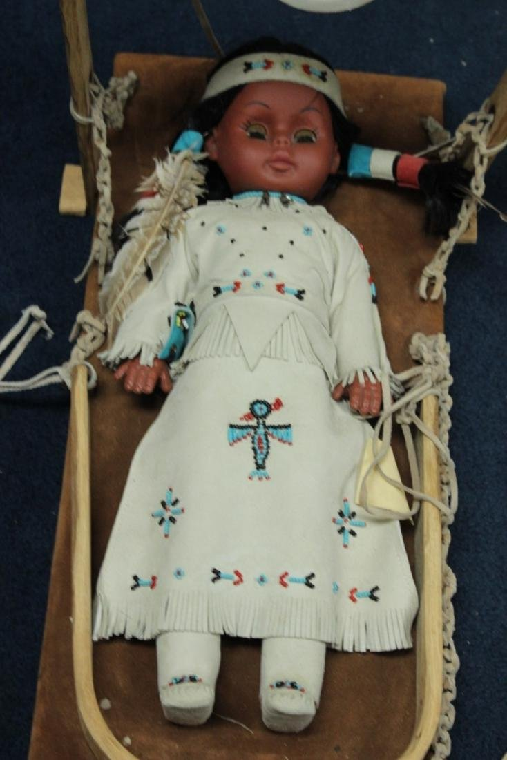 A Native Indian Leather Carlson Doll With Leather - 10