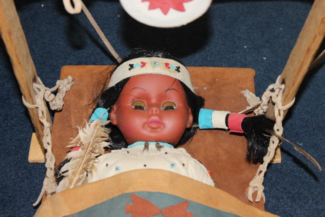 A Native Indian Leather Carlson Doll With Leather - 2