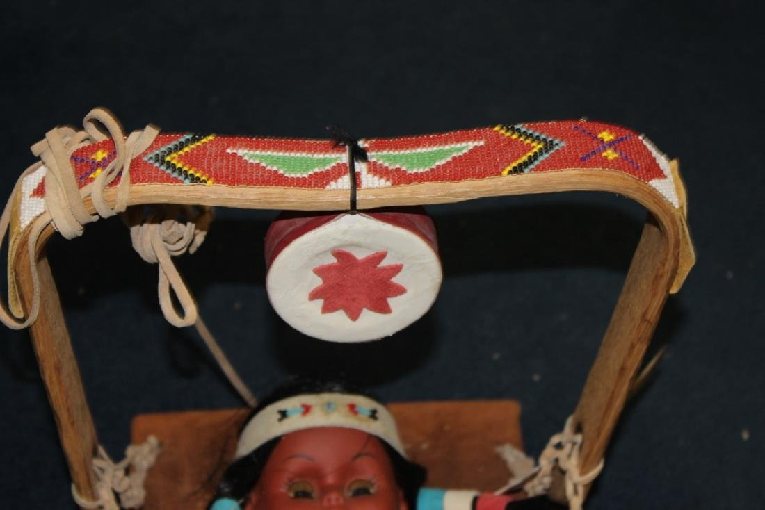 A Native Indian Leather Carlson Doll With Leather - 3