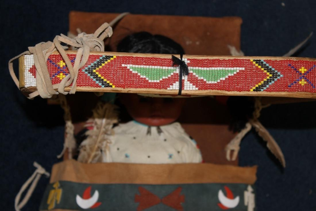 A Native Indian Leather Carlson Doll With Leather - 4
