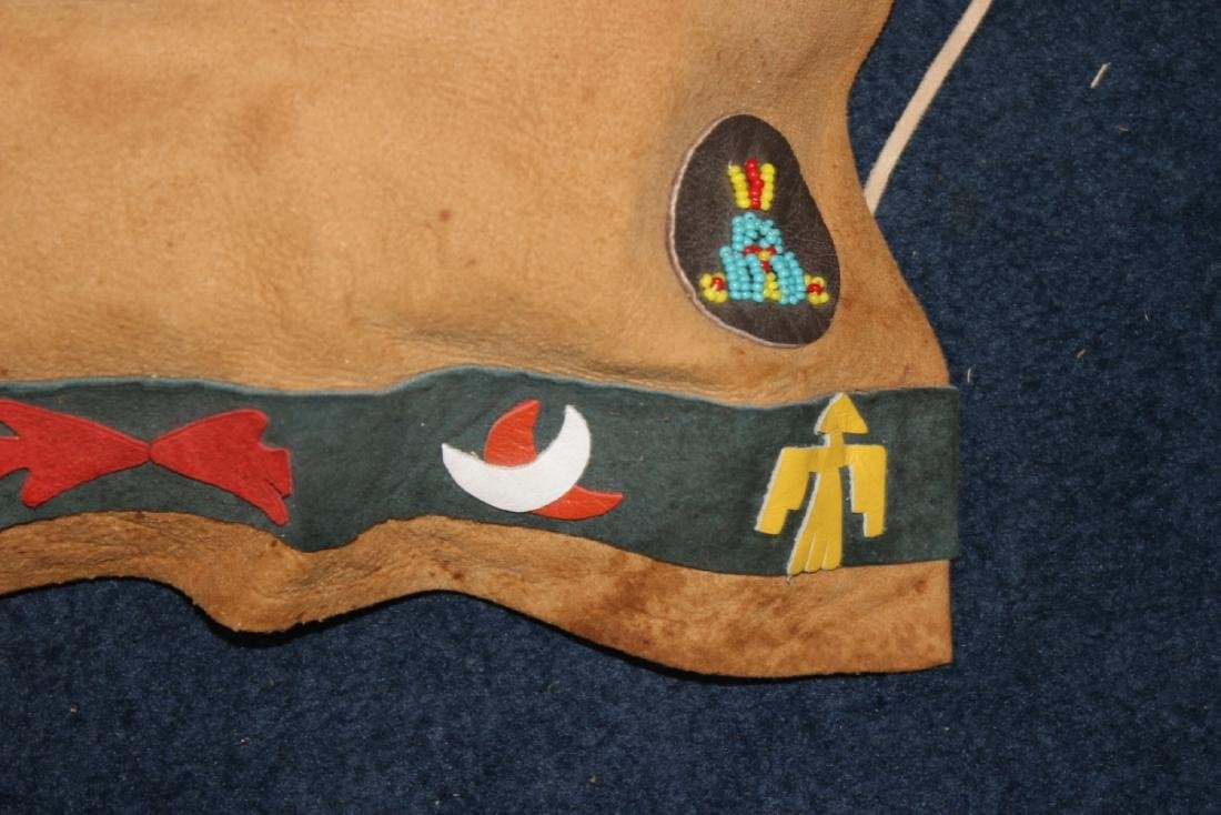 A Native Indian Leather Carlson Doll With Leather - 6