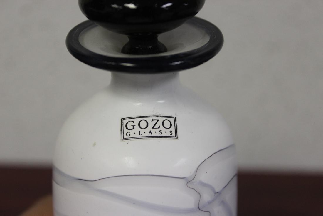A Signed Gozo Modern Art Glass Perfume Bottle - 2
