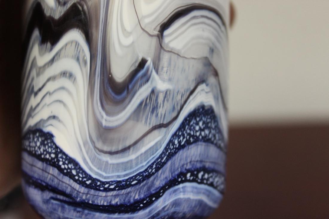 A Signed Gozo Modern Art Glass Perfume Bottle - 7