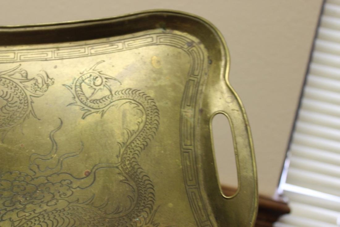 A Chinese Dragon Brass Tray - 6