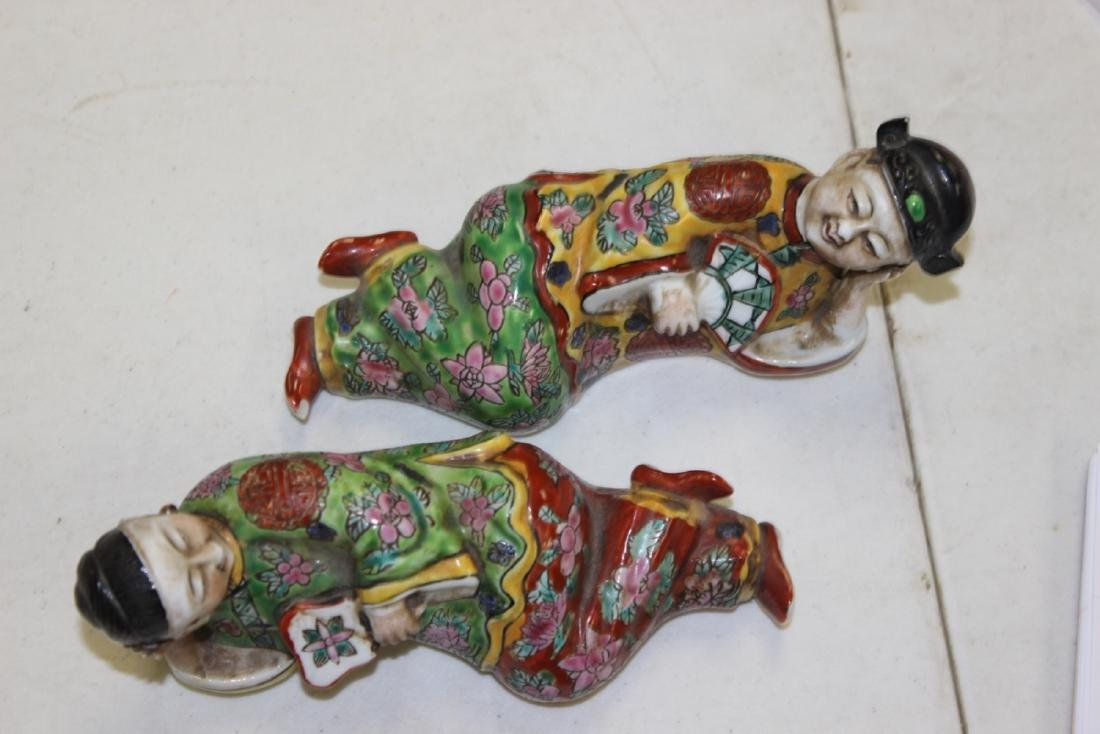 A Pair Of Early To Mid 20th Century Chinese Reclining