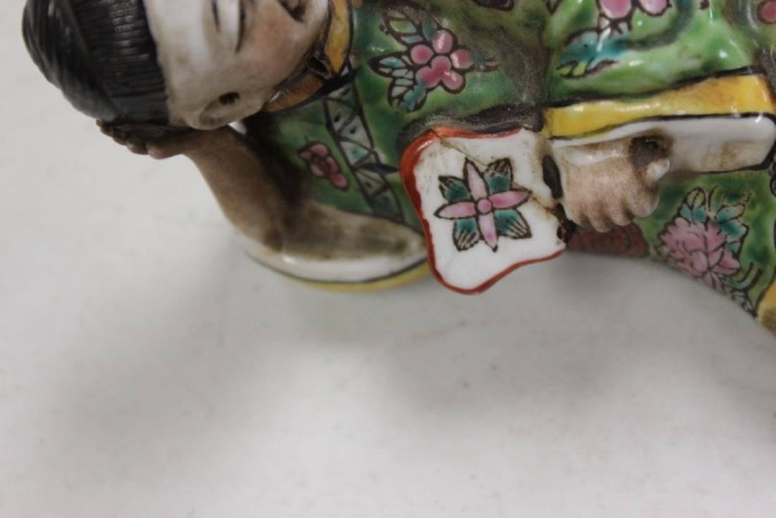 A Pair Of Early To Mid 20th Century Chinese Reclining - 2