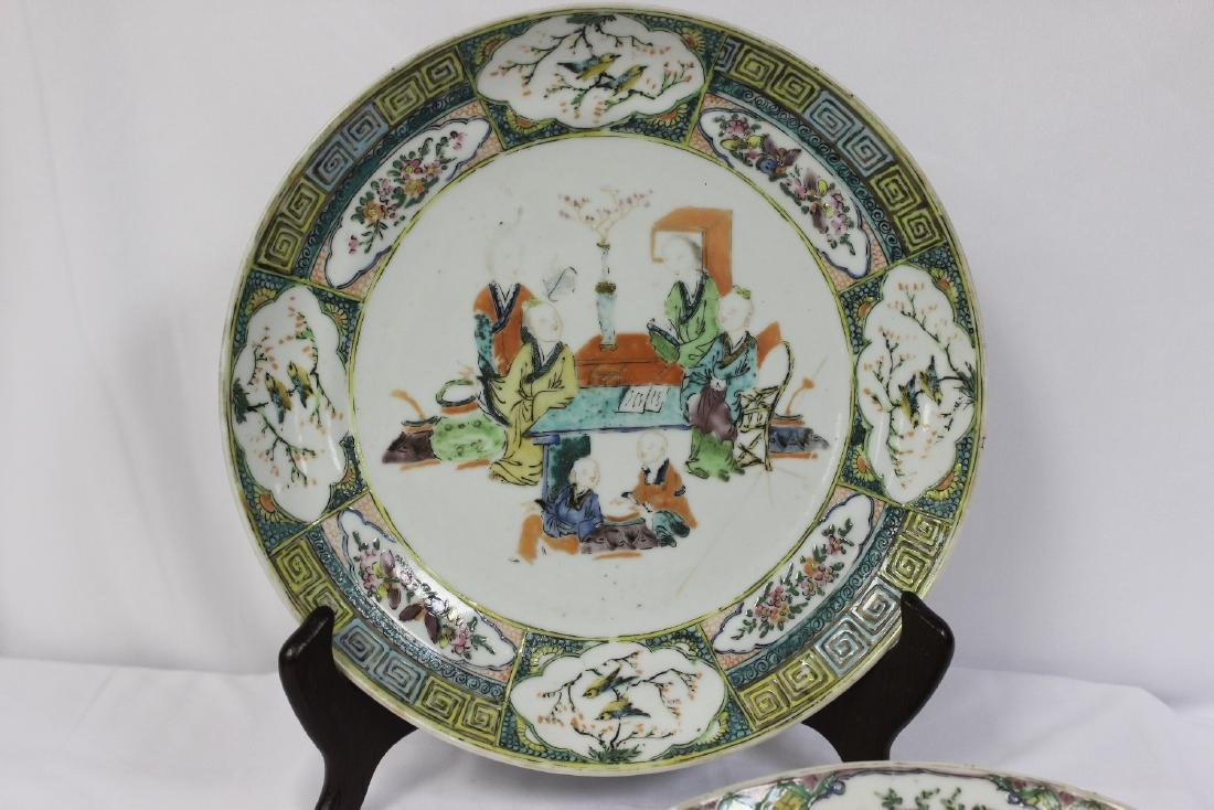 Lot of Two Antique Famille Verte? Plates - 2