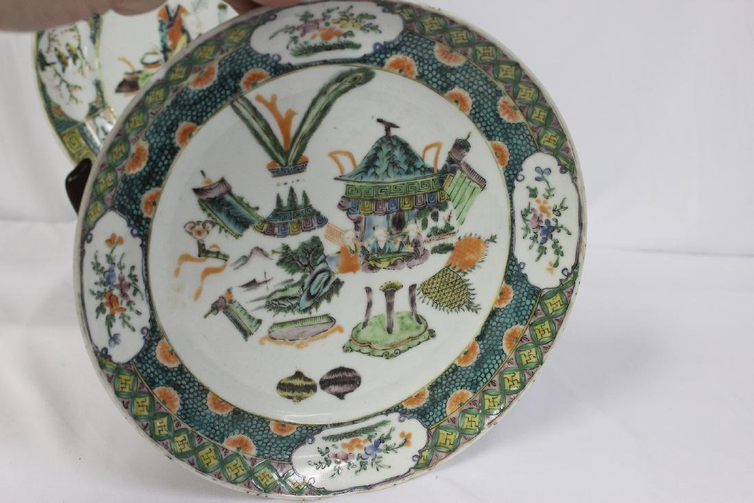 Lot of Two Antique Famille Verte? Plates - 3