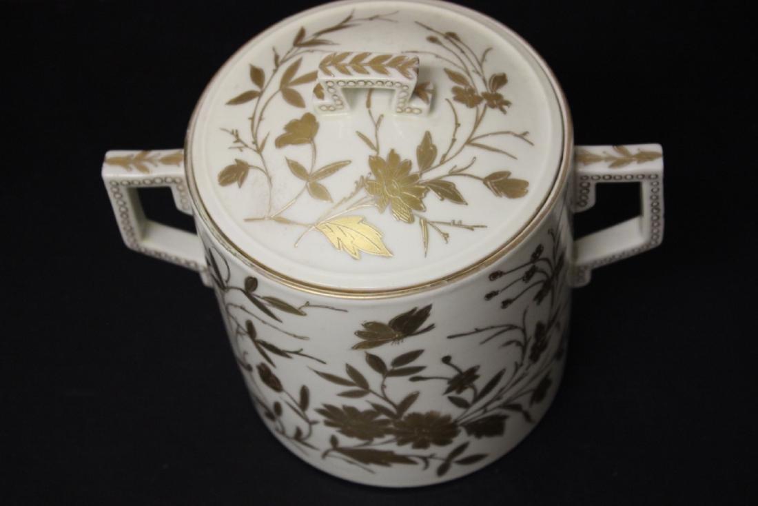 A Royal Vienna (?) Beehive Shield Mark Jar - 2
