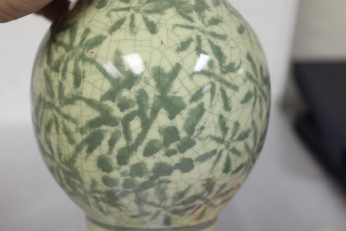 An Oriental Celadon Vase - 5