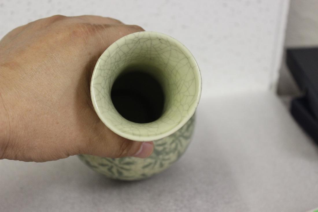 An Oriental Celadon Vase - 6