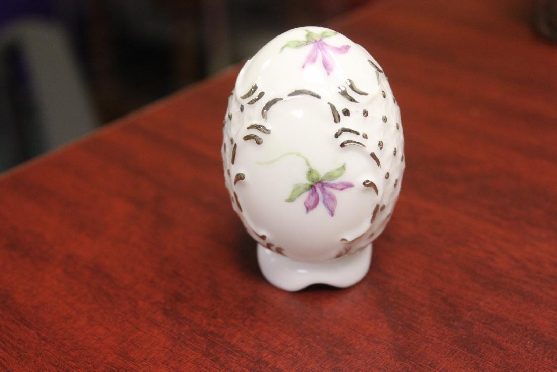 A Signed Ceramic Egg