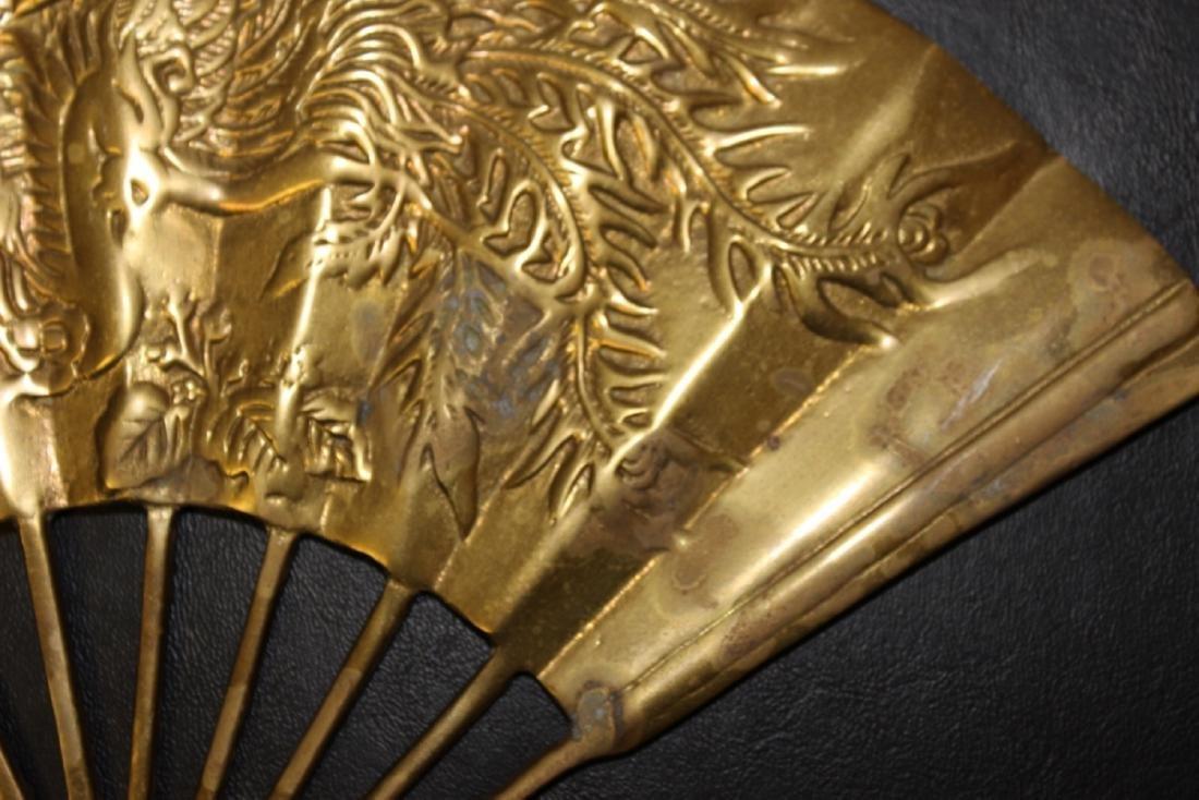 An Oriental Brass Fan Wall Hanger - 5