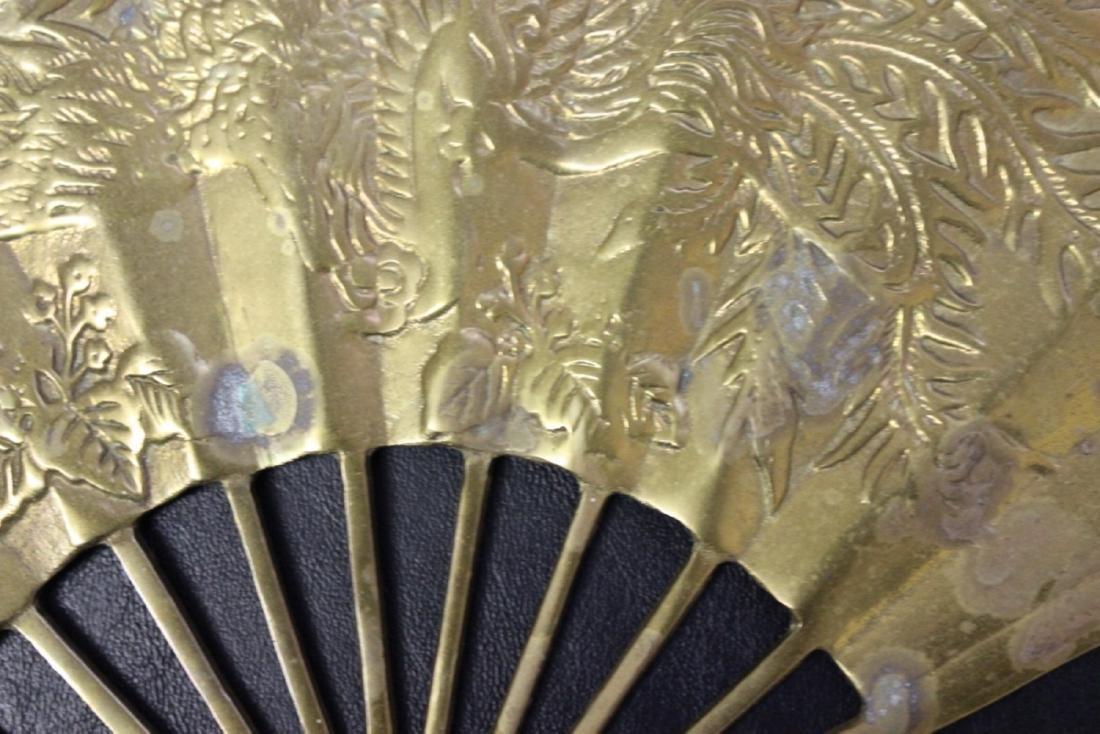 An Oriental Brass Fan Wall Hanger - 6