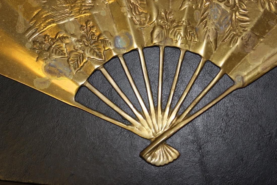 An Oriental Brass Fan Wall Hanger - 7