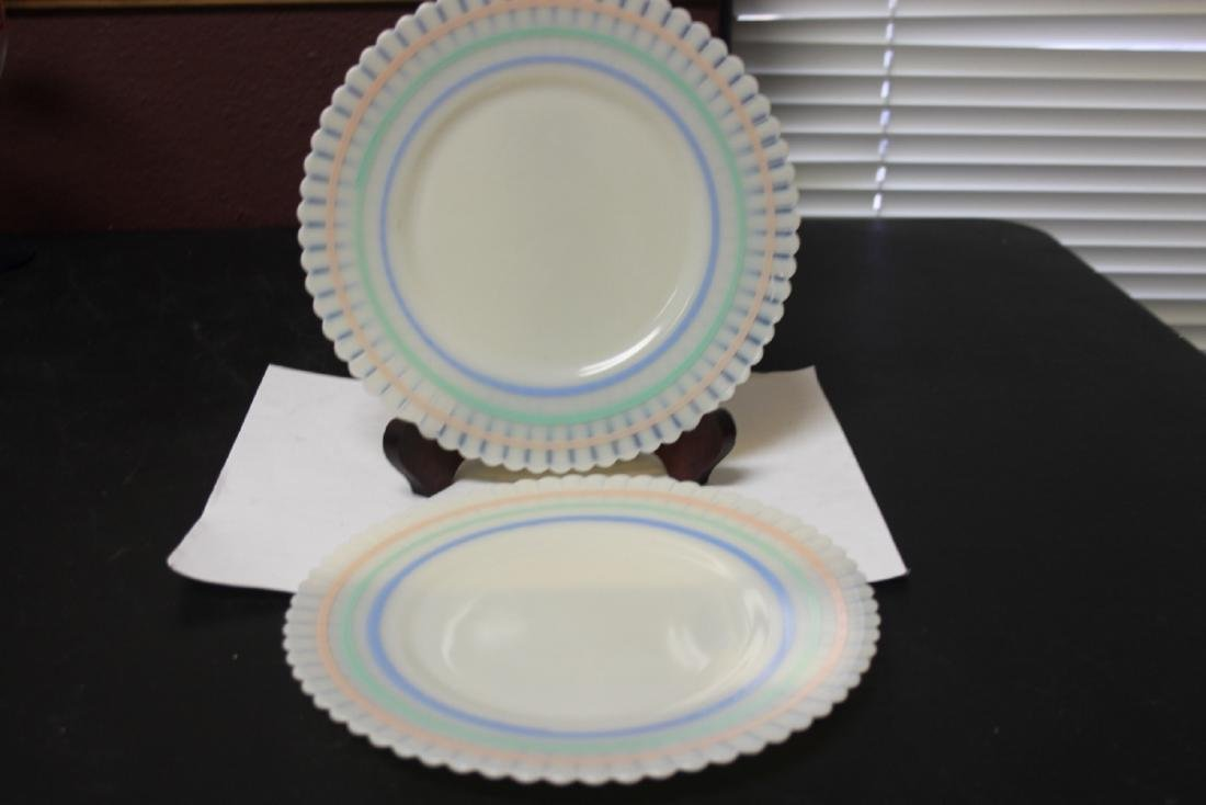Set of Two MacBath Evan Colour Milk Glass Lunch Plates