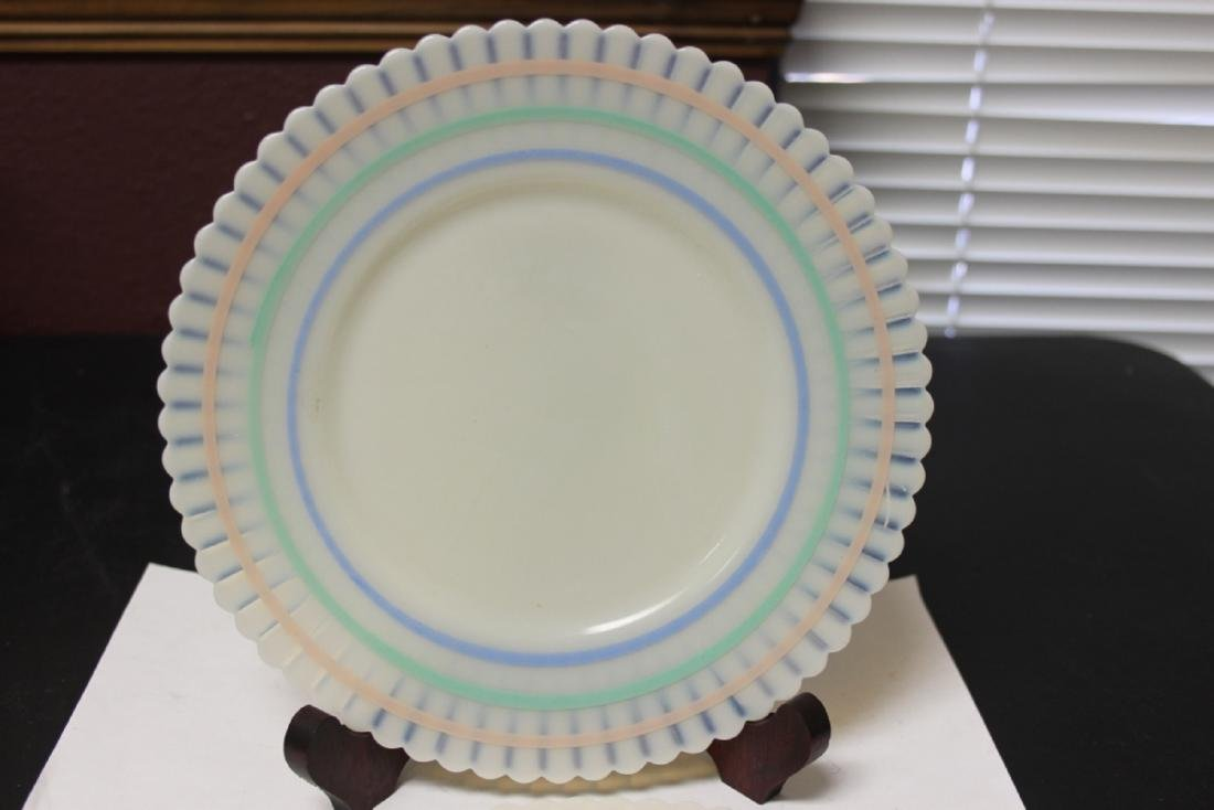 Set of Two MacBath Evan Colour Milk Glass Lunch Plates - 2