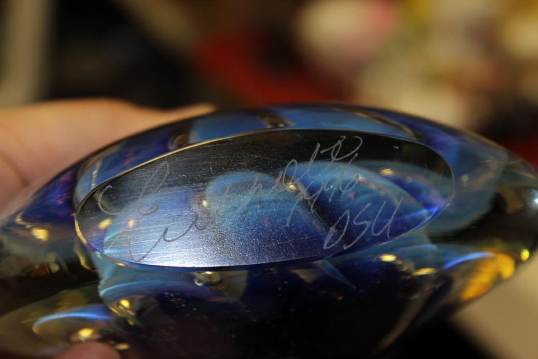 A Signed Eickholt 1996 Dual Base Paperweight - 2