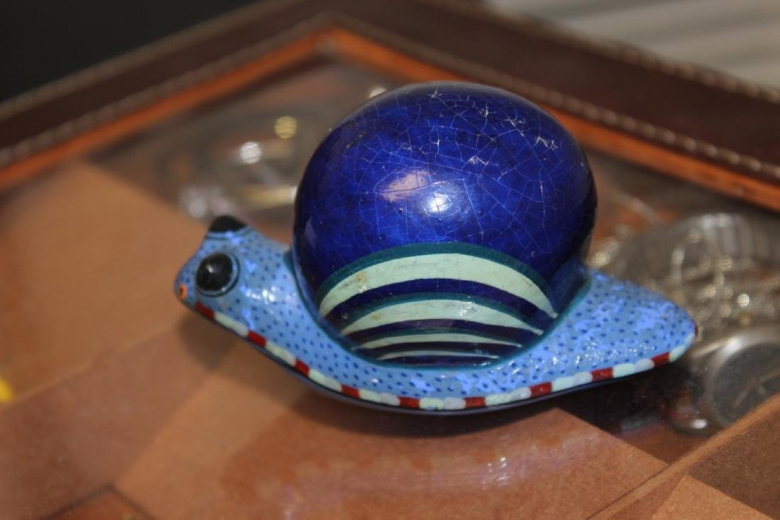A Wooden Art Snail
