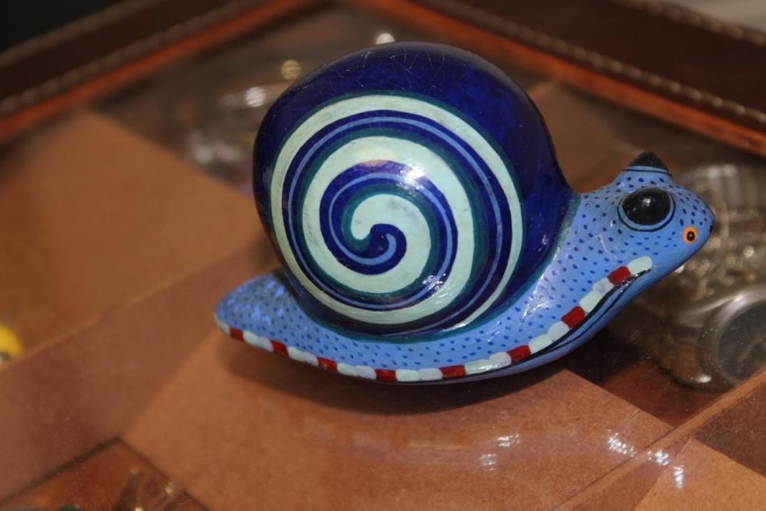 A Wooden Art Snail - 2