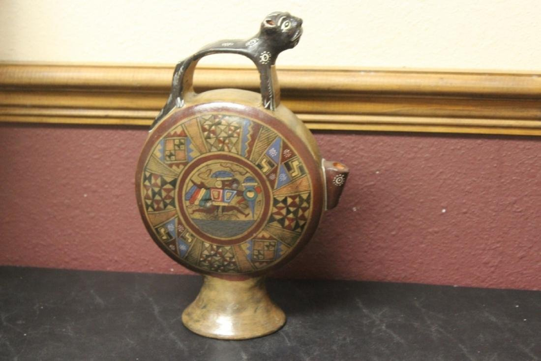 A Signed Pottery Ewer - 6