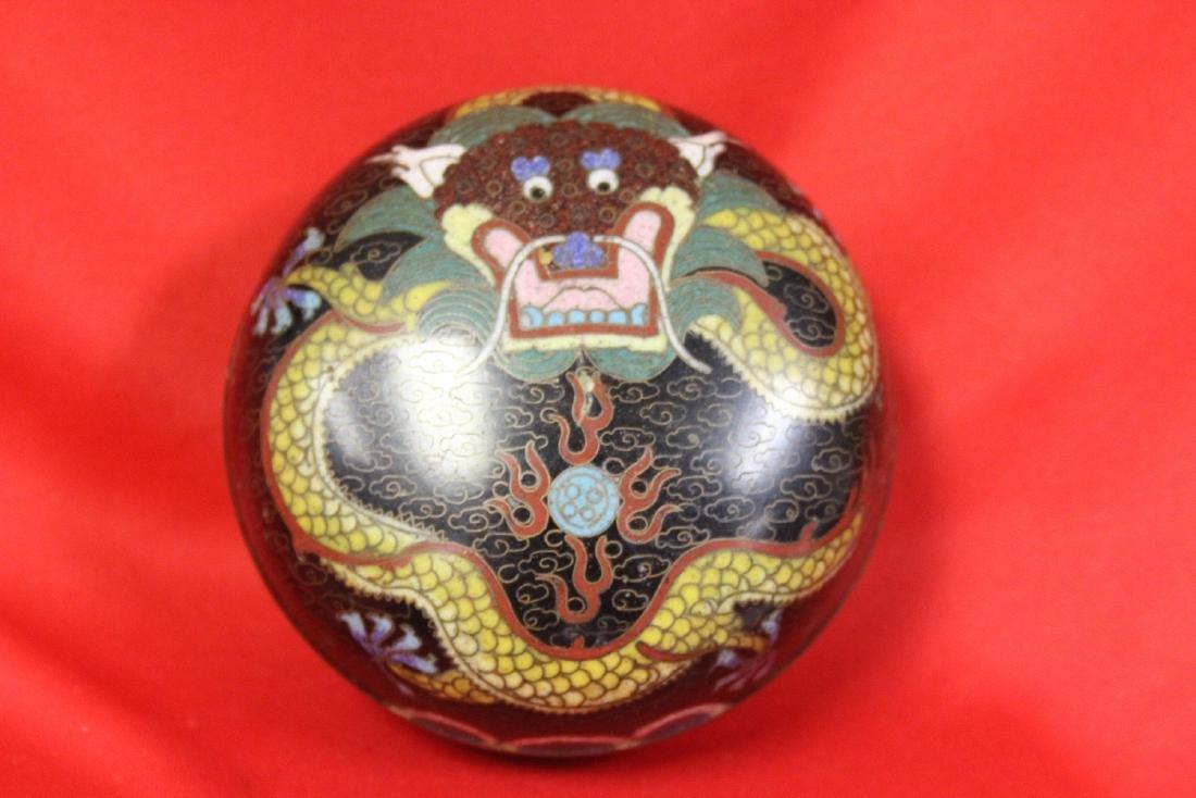 A Vintage/Antique cloisonne Dragon Box