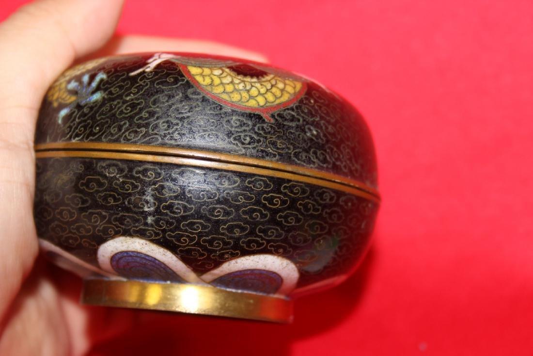 A Vintage/Antique cloisonne Dragon Box - 4