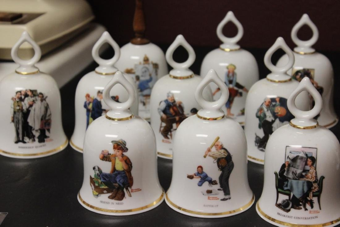 Lot of 10 Norman Rockwell Bells