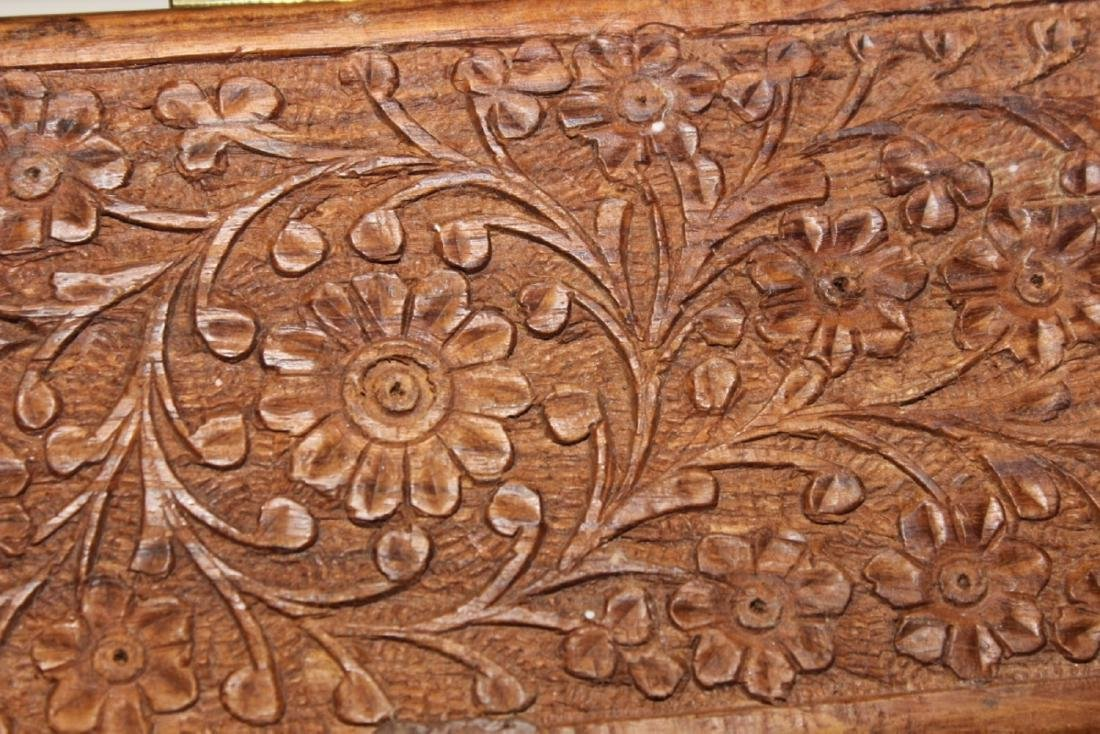 A Chinese Well Carved Long Wooden Box - 4