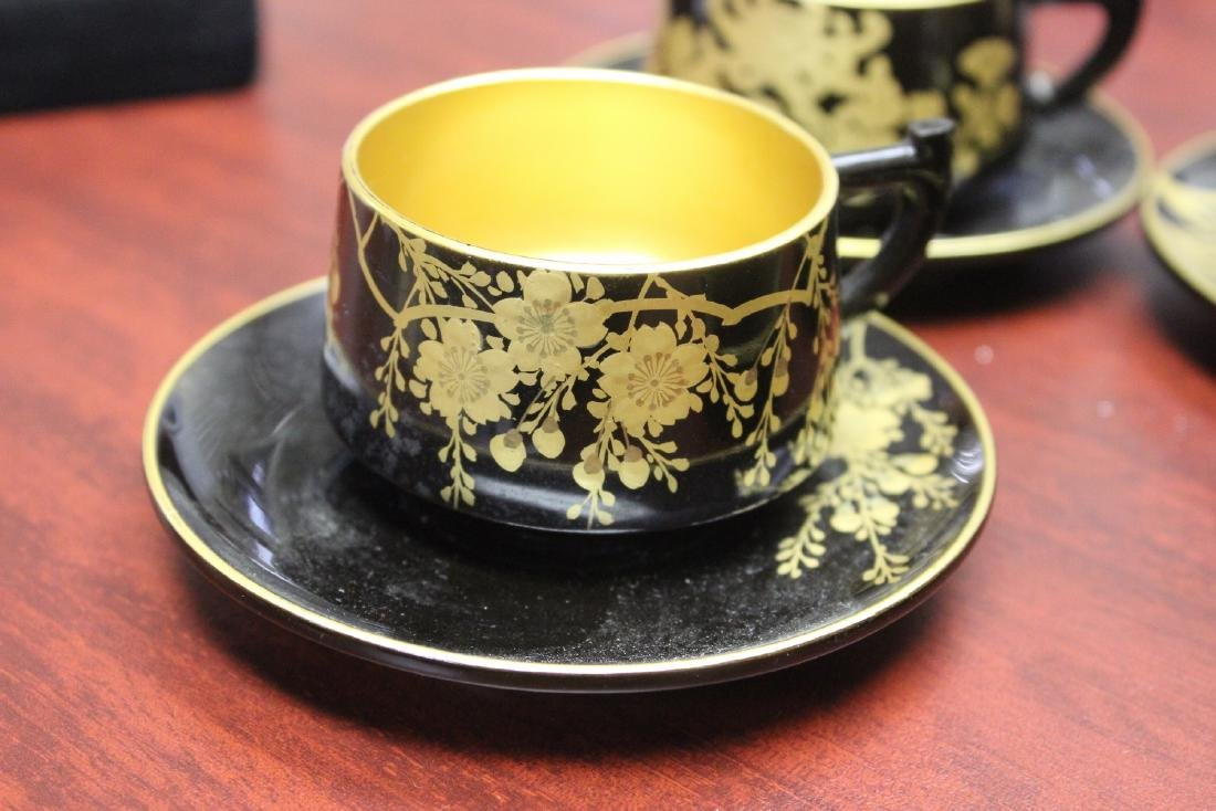 Lot of 4 Lacquer Cup and Saucer - 3