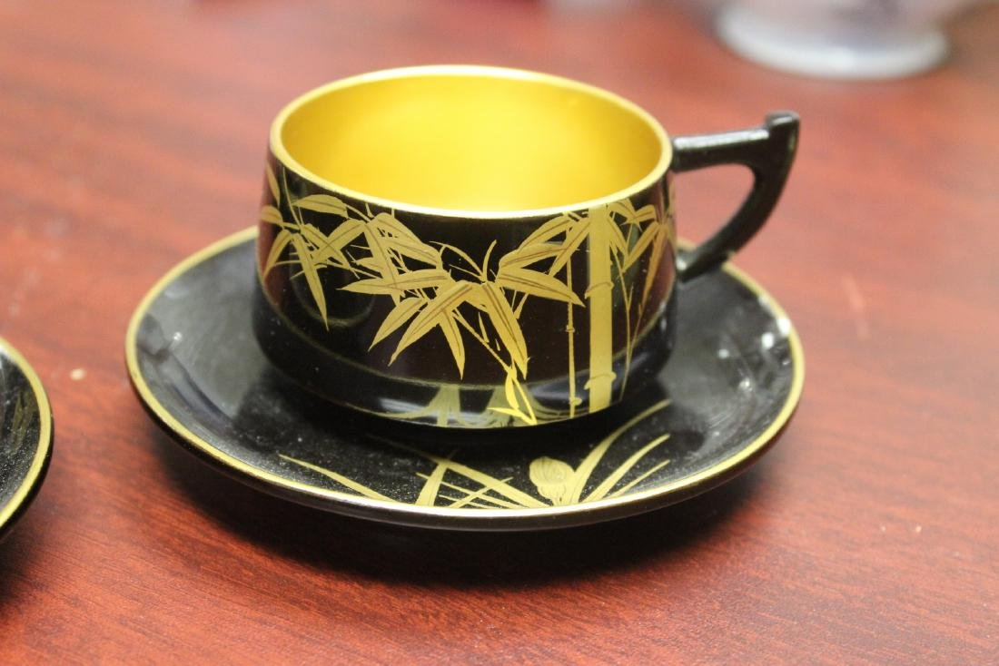 Lot of 4 Lacquer Cup and Saucer - 5
