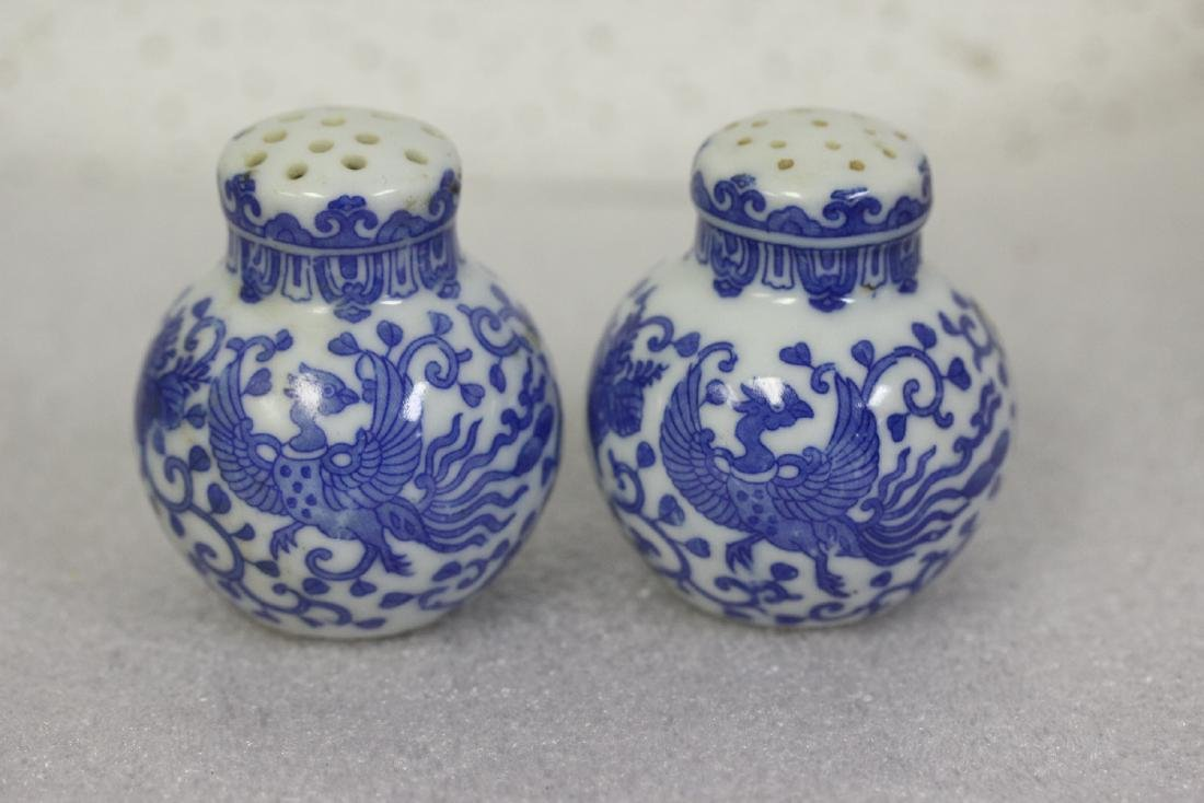 Set of Blue and White Shakers from Japan