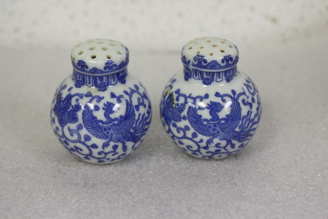 Set of Blue and White Shakers from Japan - 2