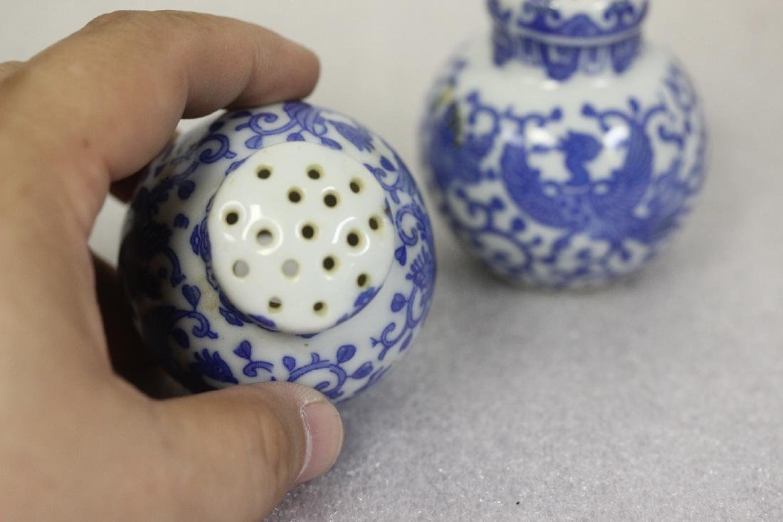 Set of Blue and White Shakers from Japan - 3