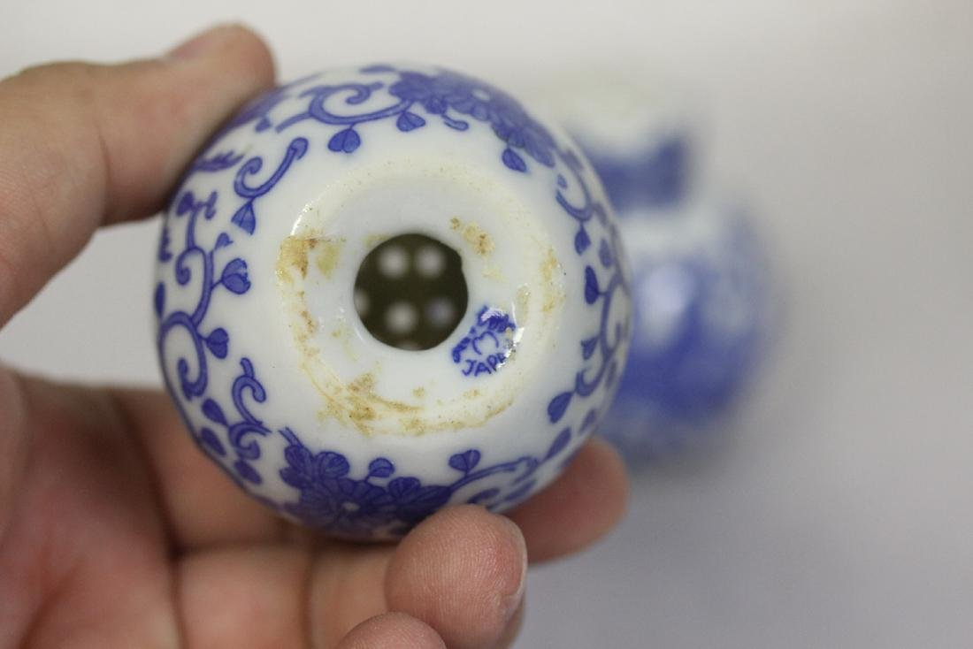 Set of Blue and White Shakers from Japan - 6