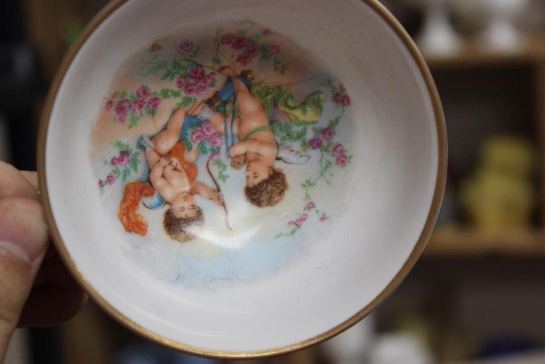 An Antique Germany HMS Royal Hanover Cherub Cup and - 2