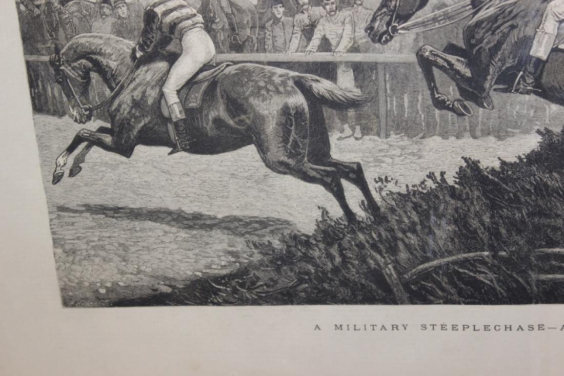 """A 19th Century Engraving: """"A Military Steeplechase - An - 10"""