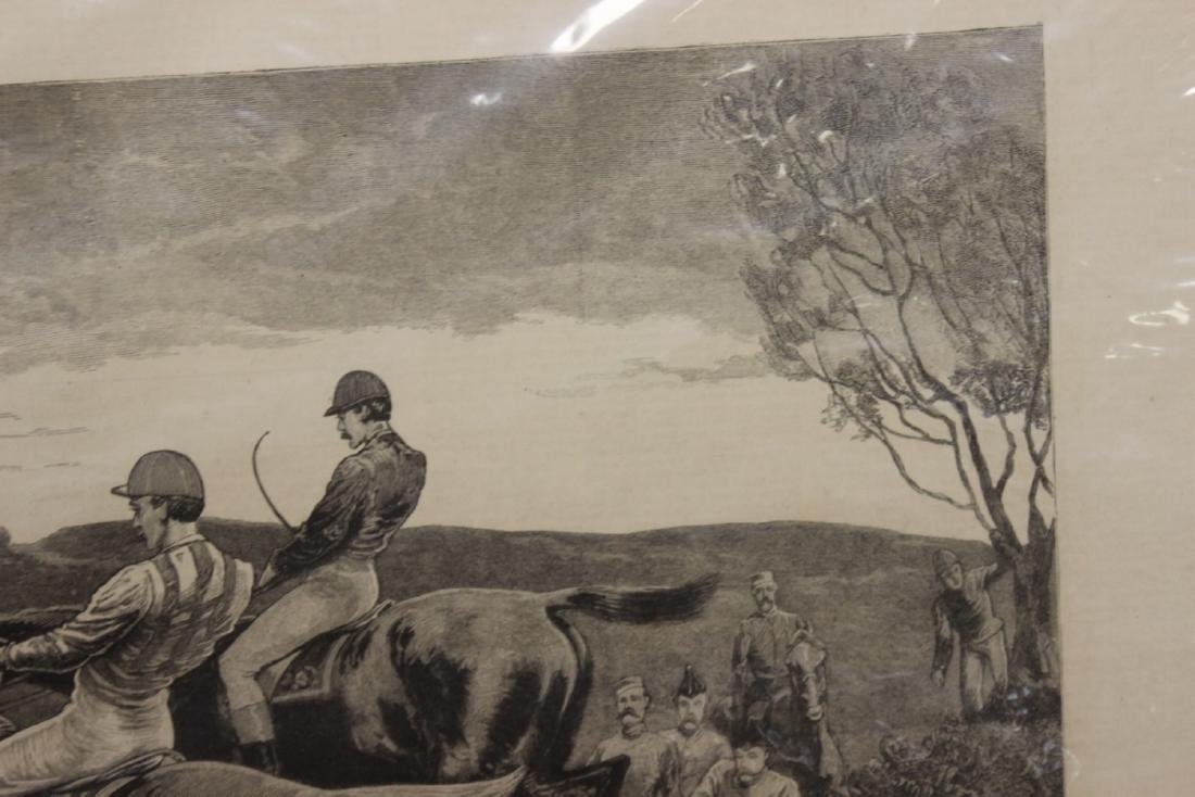 """A 19th Century Engraving: """"A Military Steeplechase - An - 3"""