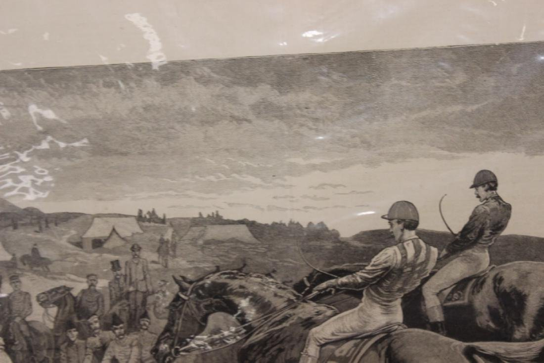 """A 19th Century Engraving: """"A Military Steeplechase - An - 4"""