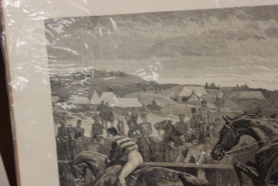 """A 19th Century Engraving: """"A Military Steeplechase - An - 6"""