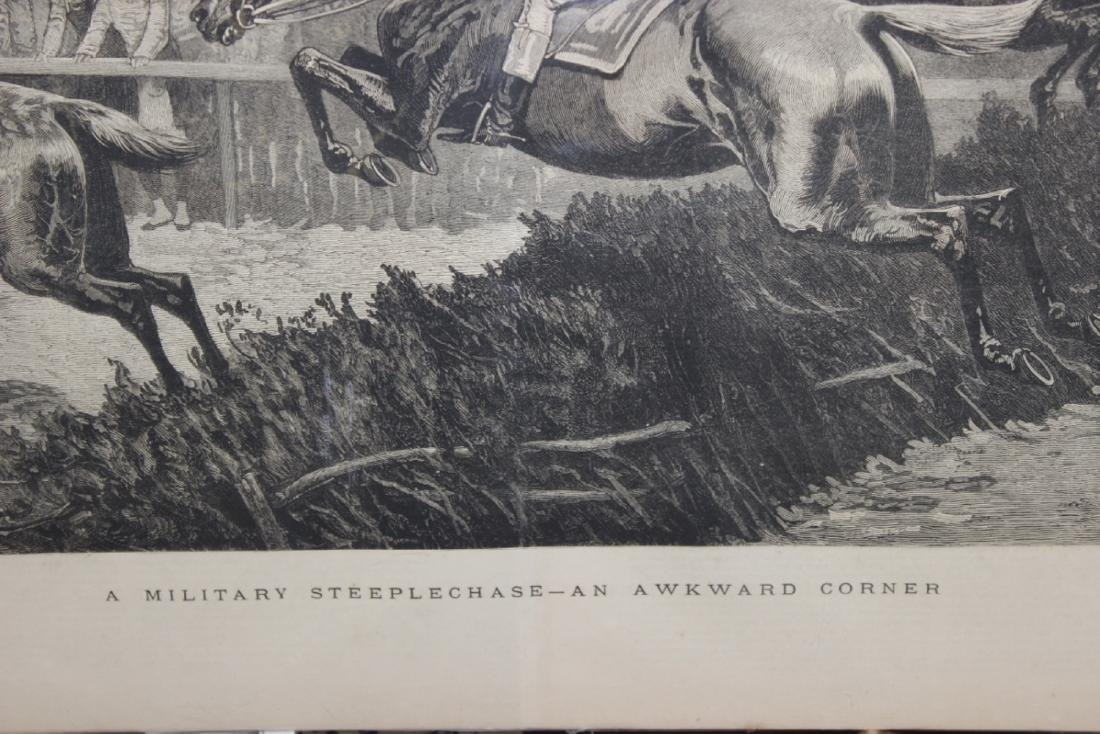 """A 19th Century Engraving: """"A Military Steeplechase - An - 9"""
